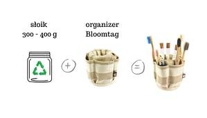 Słoik plus organizer na szczoteczki do zębów.