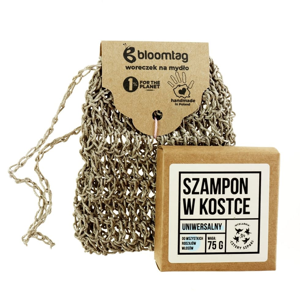 Shampoo bar from 4Starlings and linen crocheted pouch